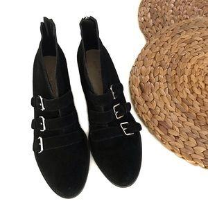 Nine West Kigero black suede booties